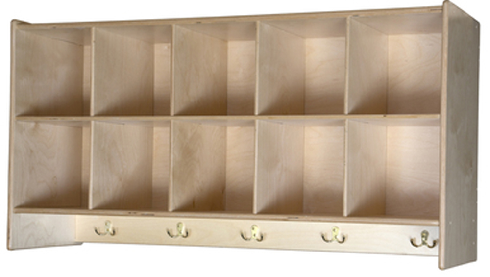 10 Cubby Wall Locker | 22-1/8