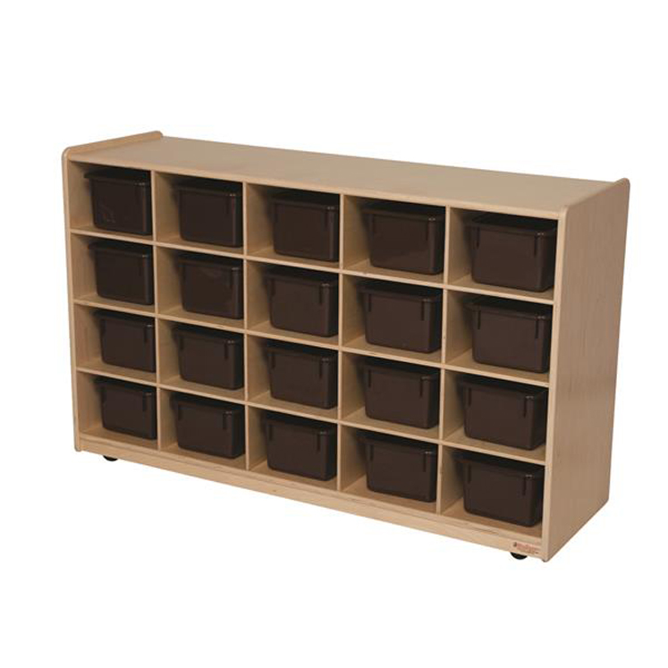 20 Tray Storage with Chocolate Trays - Assembled