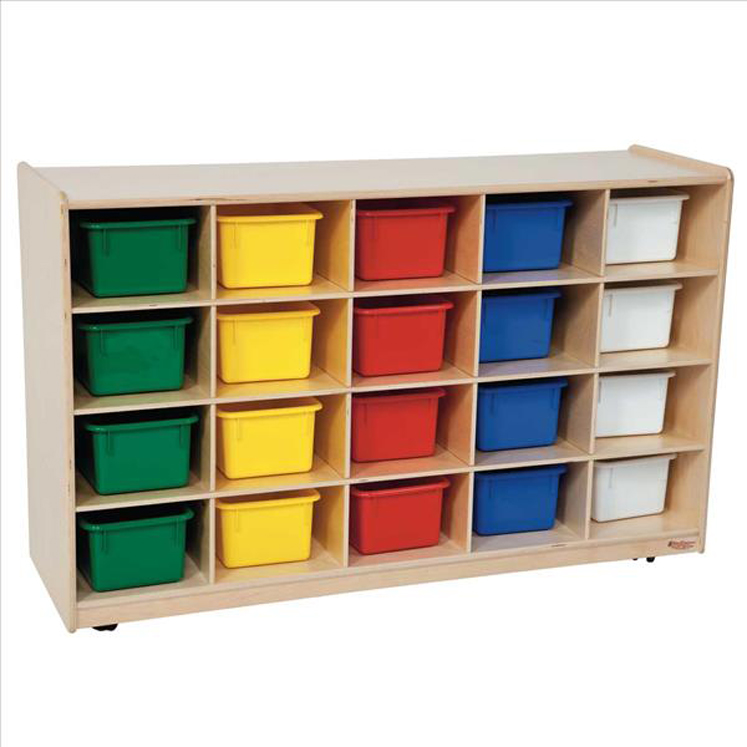 20 Tray Storage with Assorted Trays - Non Assembled
