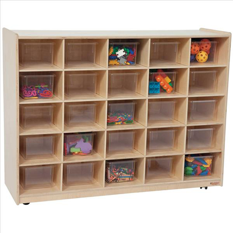 25 Tray Storage with Translucent Trays - Assembled