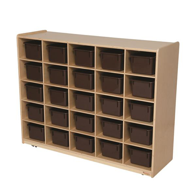 25 Tray Storage with Chocolate Trays - Non Assembled