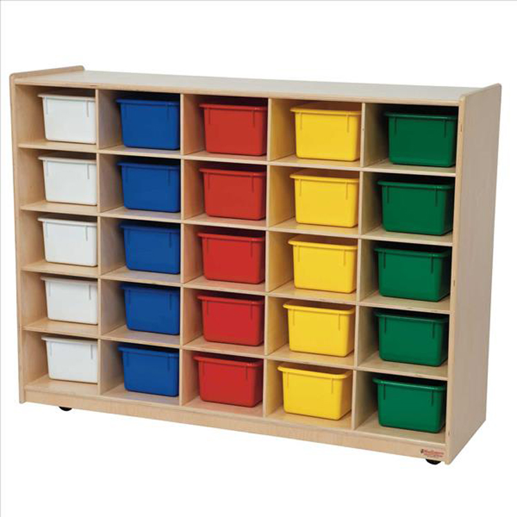 25 Tray Storage with Assorted Trays - Assembled