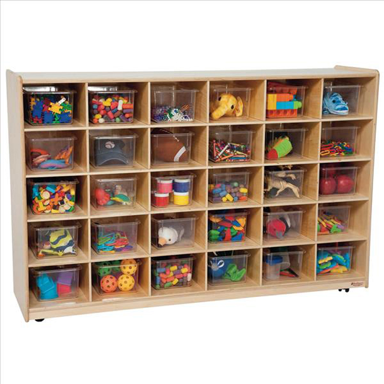 30 Tray Storage with Translucent Trays - Assembled