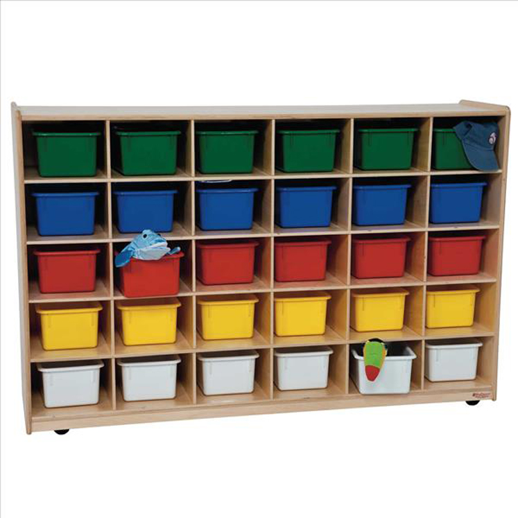 30 Tray Storage with Assorted Trays - Assembled