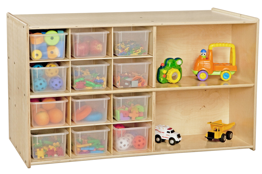 Double Mobile Storage with 12 Translucent Trays | Fully Assembled
