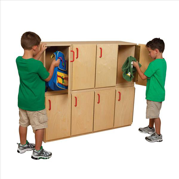 Contender Four-Section Stackable Lockers with Doors