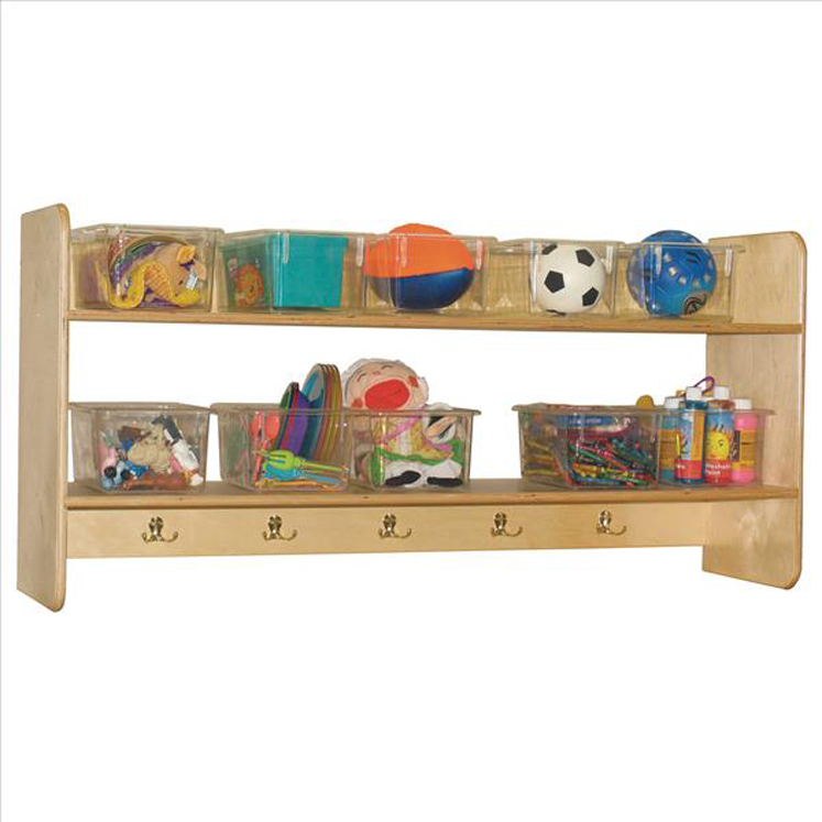 Wall Locker and Cubby Storage with 10 Translucent Trays