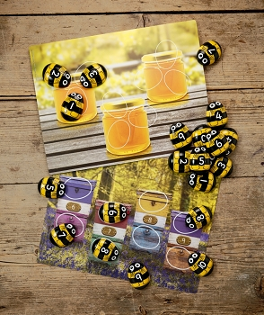 Honey Bee Number Cards - 16 Quantity
