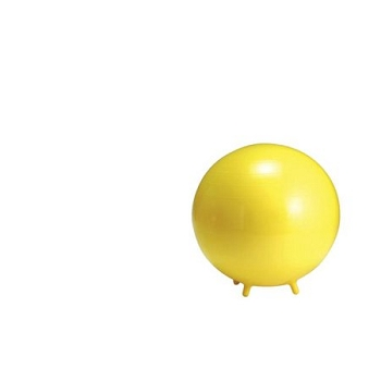 Gymnic Sit'N'Gym Therapy Ball with Built in Legs, 17-1/2 Inches, Yellow