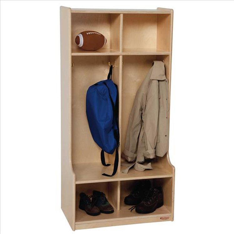 Home Cubbies And Coat Lockers 2 Section Seat Locker 49 H X 24 W 11 15 D