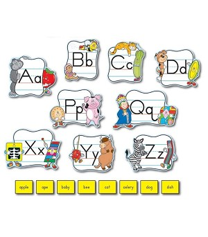 Alphabet: Traditional Manuscript Mini Bulletin Board Set