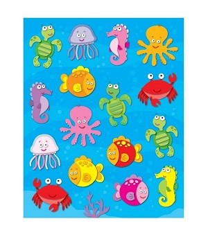 Sea Life - Shape Stickers