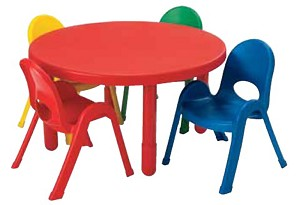 36''  Round Value Table and 4 Chair Toddler Set