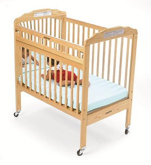 Angeles Safe-T-Side Crib with Mirrored Panels