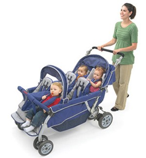 SureStop Folding Commercial Bye-Bye Stroller for 6