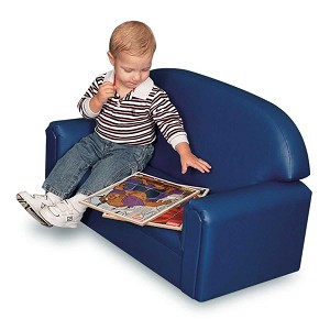 Just Like Home' Premium Infant-Toddler Vinyl Sofa - Choice of Color