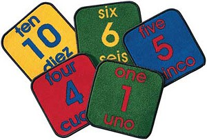 Bilingual Number Squares, 1' x 1'