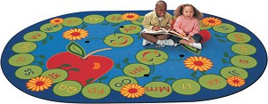 ABC Caterpillar Rug - Oval - 2 Sizes