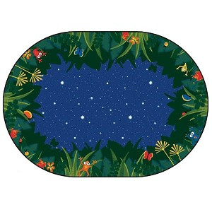 Peaceful Tropical Night,Oval - Multiple Sizes Available
