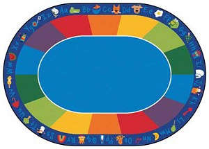 Fun with Phonics Rug, 8'3 x 11'8 - Oval