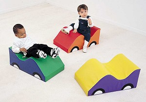Wide Infant Toddler Soft Cars - Set of 3