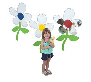 Flower Mirrors - Set of 3