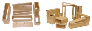 Wooden Hollow Blocks - Large Sets