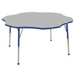Adjustable Flower Activity Table with Color Banding and Legs