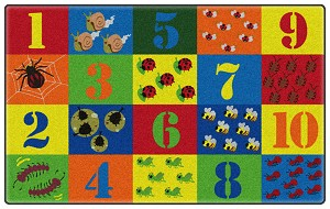 Counting Critters Rug - Multiple Sizes