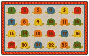 Counting Turtles Sitting Spots Rug - Multiple Sizes