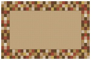Border Blocks (Brick or Teal) - 3 Sizes of Each Available