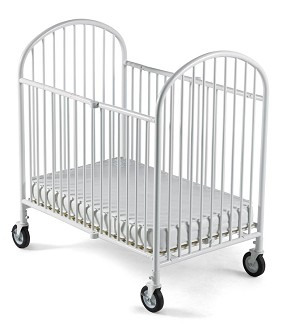 Full Size Pinnacle EasyRoll Folding Steel Evacuation Crib with 4'' Casters