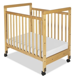 SafetyCraft Compact Fixed-Side Crib - Clearview End Panels