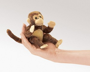 Mini Monkey Finger Puppet