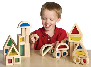 Jr. Rainbow Blocks - 40-Piece Set