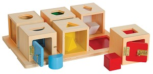 Peekaboo Lock Boxes - Set of 6