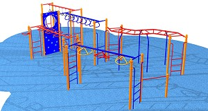 "Extreme Obstacle Course, 120""h x 408""w x 252""d"