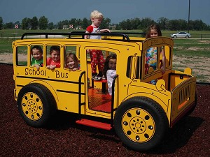 School Bus On Springs