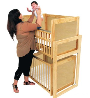 Modular Stackable Cribs with Solid (Non Window) Sides