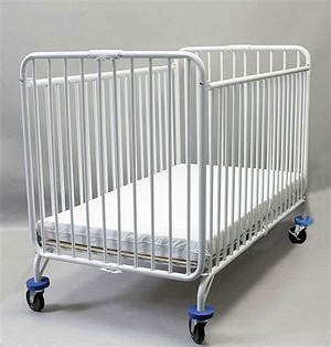 Full Size Holiday Metal Folding Evacuation Crib