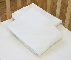 LA Baby Poly-Cotton Fitted Sheets for Compact Cribs - 6 Pack