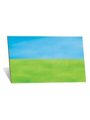 Blue & Green Mounted Background - Small