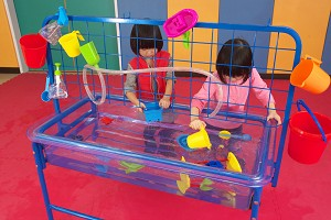 See Through, Sand & Water Play Table with Lid - Preschool Height