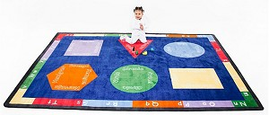 Bilingual Rug - Rectangle - 2 Sizes