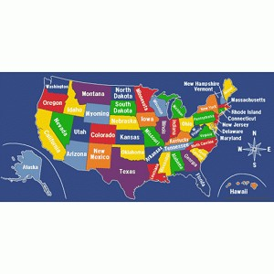 US Map - Multiple Sizes & Shapes Available