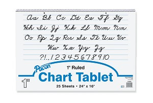 "Chart Tablet, 1"" Ruled, 24"" x 16"" - 25 Sheets"