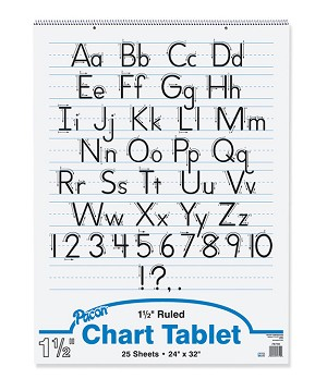 "Chart Tablet, 1-1/2"" Ruled, 24"" x 32"" - 25 Sheets"