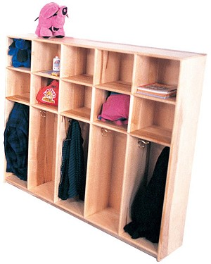 Mainstream Preschool Locker for 10, 10-Cubbies, 48''w x 48''h (Deluxe Shown)