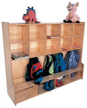 Mainstream Locker with Bench for 10, 54''w x 15''d x 48''h
