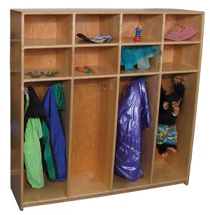 Mainstream Preschool Locker for 8 (Deluxe Shown)